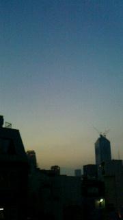 七夕の夕陽